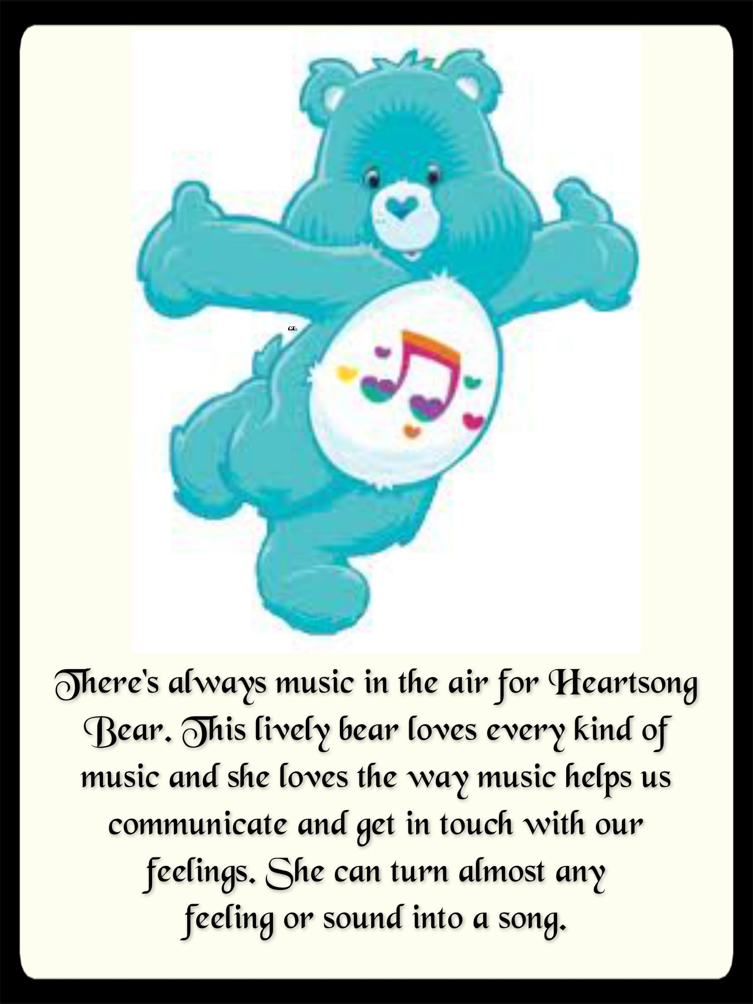 theres always music in the air for heartsong bear this