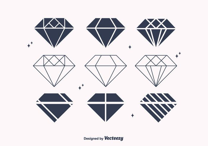 free flat diamond vectors � business card designs