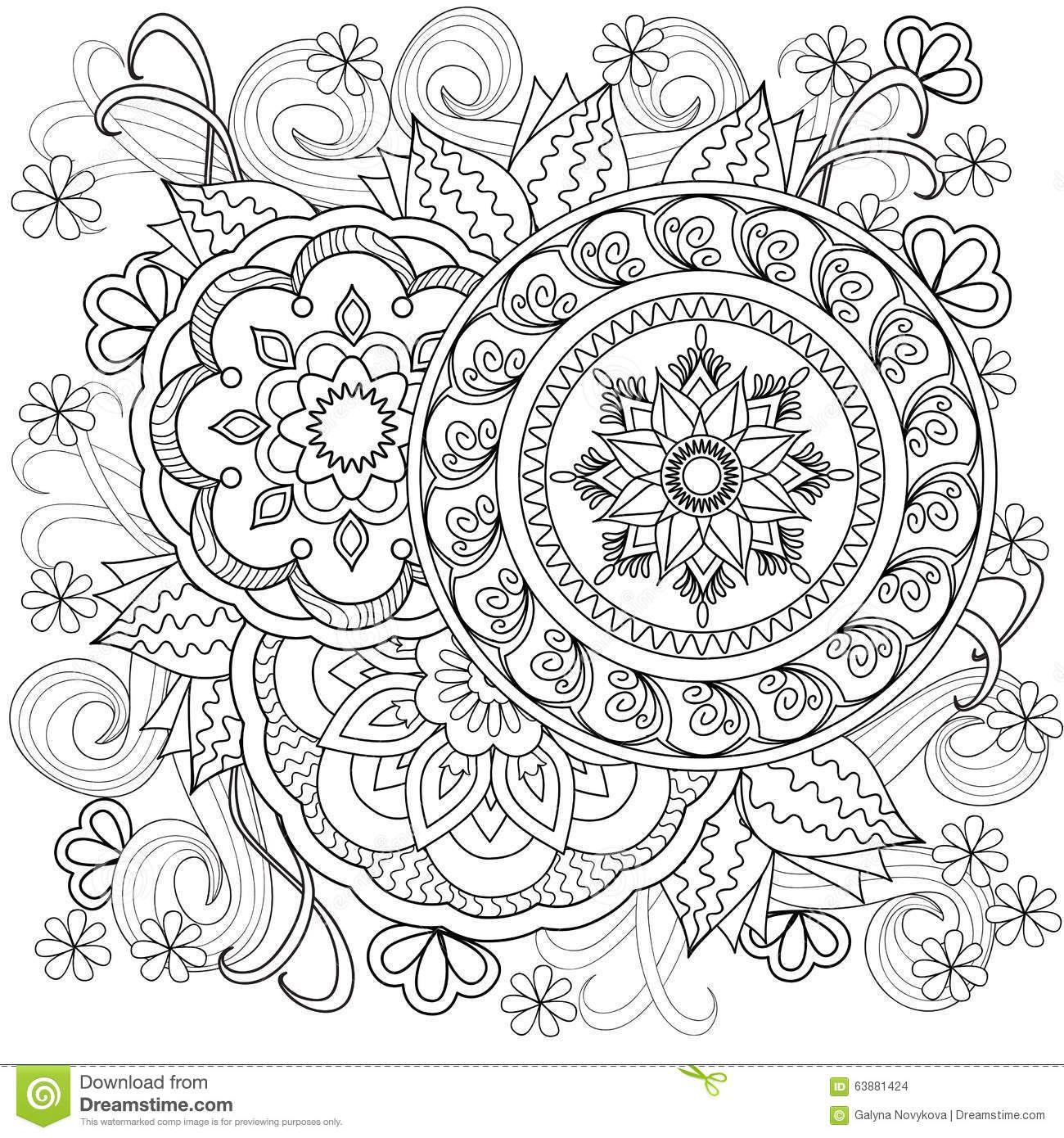 Ausmalbilder Blumen Mandala : Mandalas Mais Mandalas Pinterest Malvorlagen F R Erwachsene