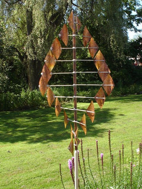 Diamond Copper Wind Sculpture - Sea Meadow Gift and Garden Shop