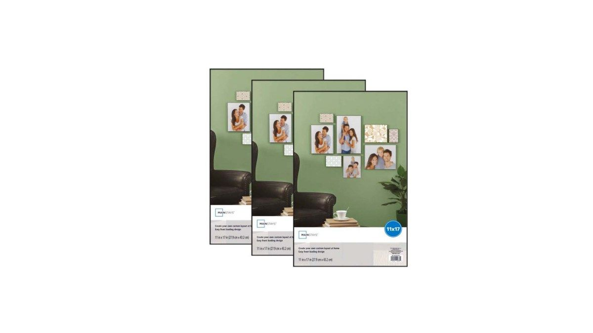 Set Of 3 Mainstays 11 17 Format Picture Frame For 11 56 At Walmart Picture Frames Mainstays Frame