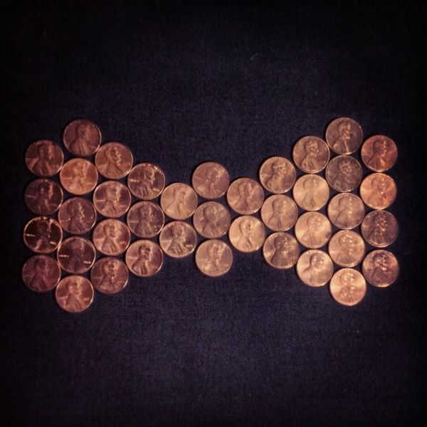 #Day55 - Bowtie of pennies to support Lincoln at the 85th Annual Academy Awards. Hoping Sally Field gets an Oscar!