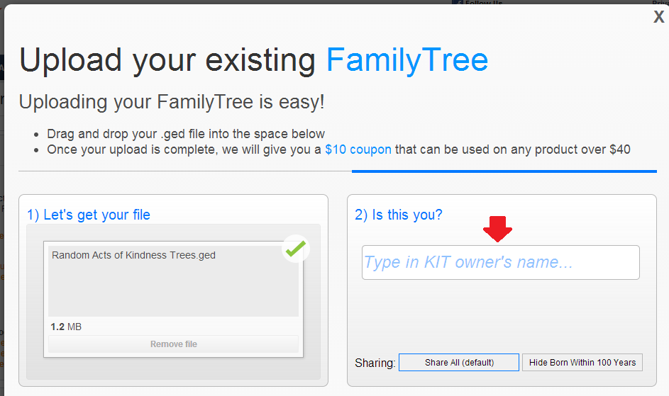 A Family Tree DNA Coupon Promotes GEDCOM Upload A new ...