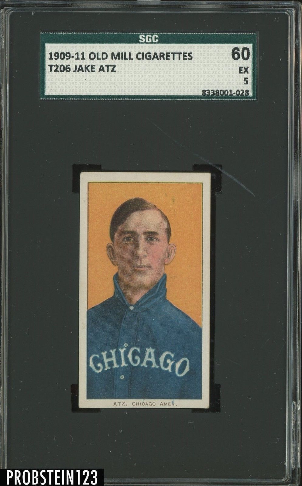 T206 Jake Atz Old Mill RARE BACK SGC 60 EX 5 POP 1 ONLY 2