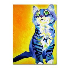 """""""Here Kitty Kitty"""" by DawnArt Painting Print Gallery Wrapped on Canvas"""