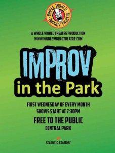 Improv in the Park = Free Comedy in Atlantic Station's Central Park on December 5, 2012