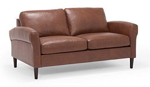 Groovy Oliver Pierce Op0337 Adeline Leather Loveseat Brown Uwap Interior Chair Design Uwaporg