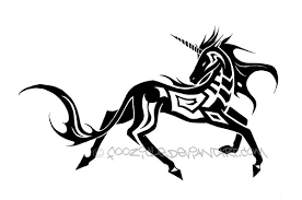 Image Result For Tribal Unicorn Tattoo Designs Unicorn Tattoo Designs Unicorn Tattoos Unicorn Drawing