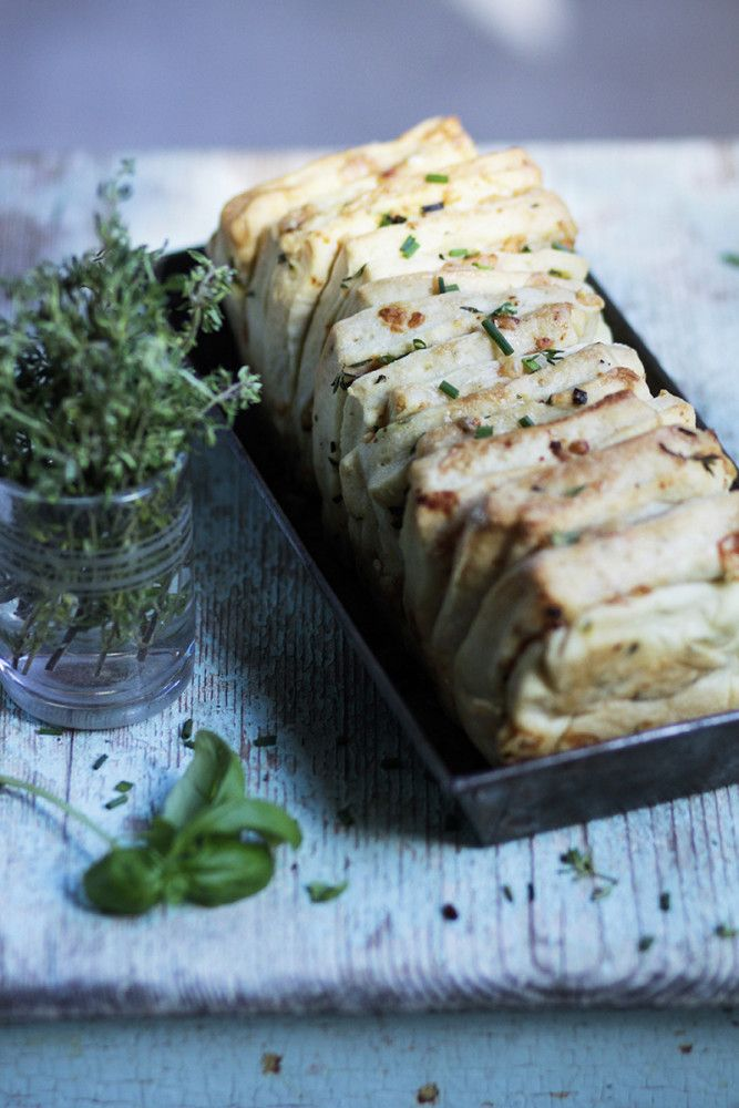 Herbs & Garlic Pull Apart Bread