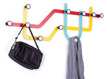 Funny Coat Hooks underground-style: umbra subway coat hooks | map quest | pinterest