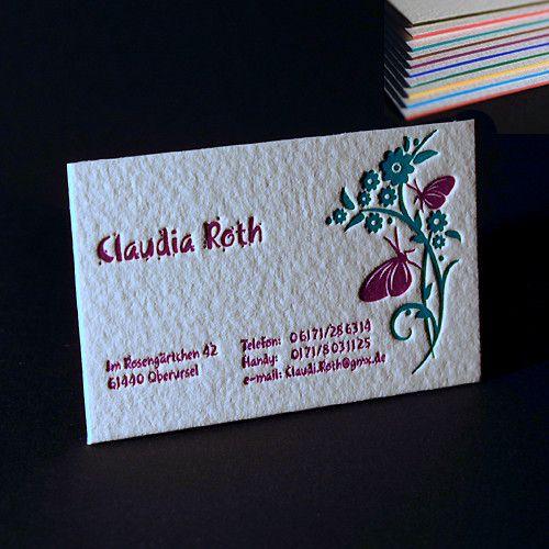 Letterpress Visitenkarte Letterpress Letterpress