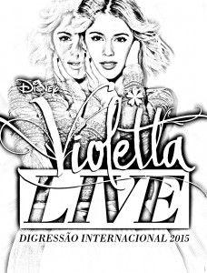 Violetta Live Coloring Page