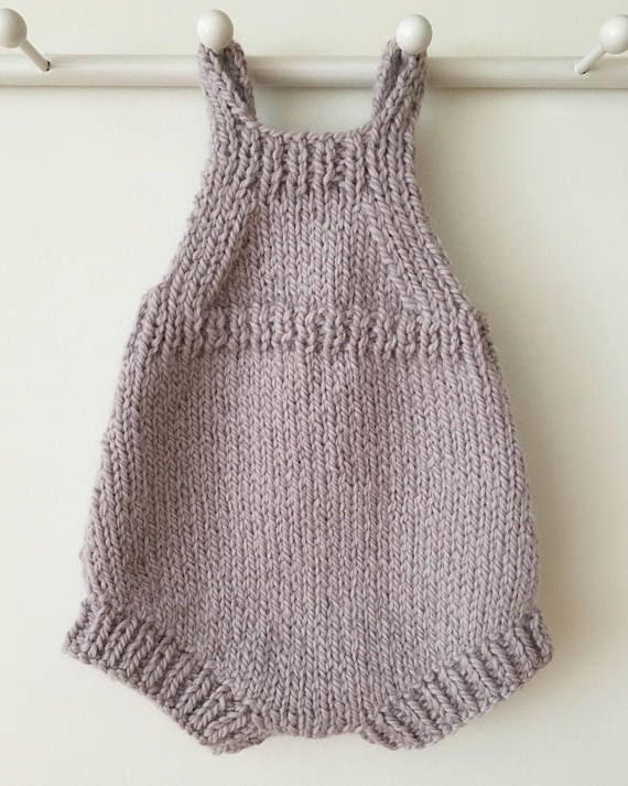 4ce565dd750b Baby Playsuit Knitting Pattern Pip Knitted Romper PDF
