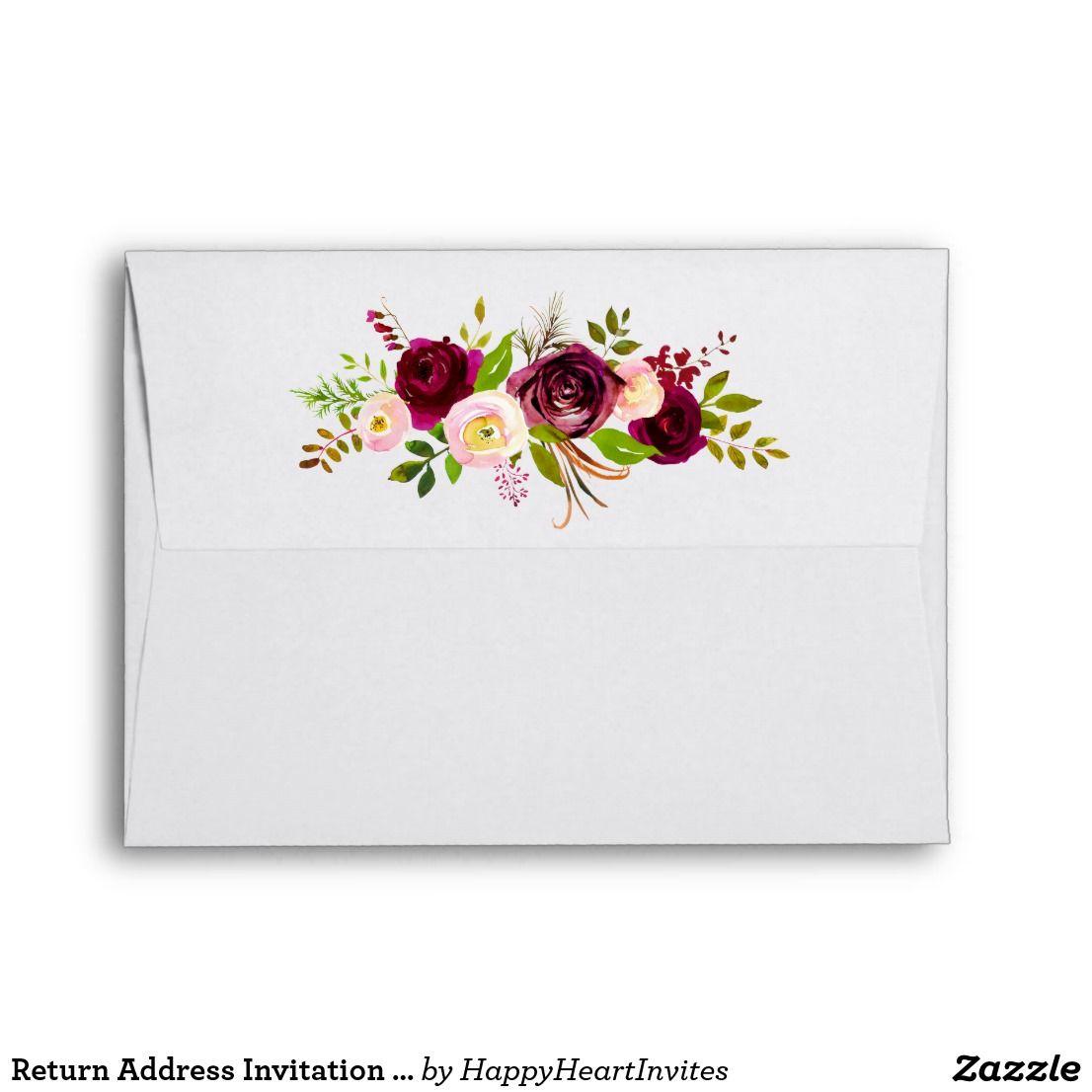 Return Address Invitation Mailing Envelope   Mailing envelopes ...