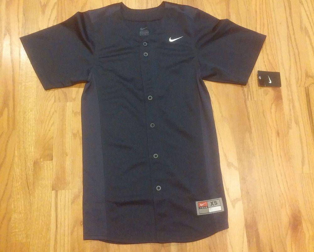 Mens extra small nike navy baseball softball jersey nwt