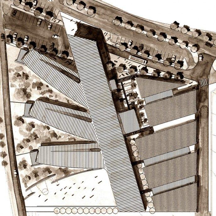 plan masse chu saint etienne cimaise architecture © copyright