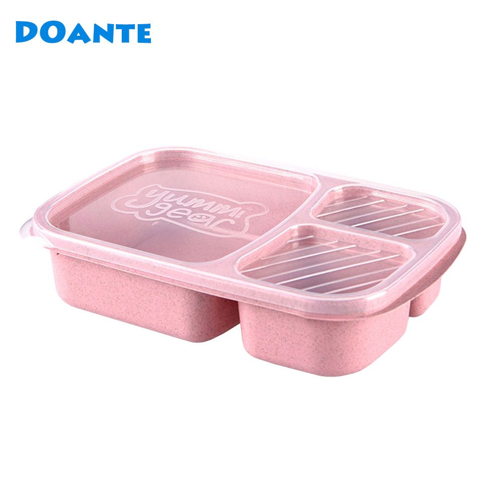Doante Wheat Straw Plastic Microwave Tableware Lunch Bento Box Food Storage Container Dinnerware Set Lunchbox  sc 1 st  Pinterest & Doante Wheat Straw Plastic Microwave Tableware Lunch Bento Box ...