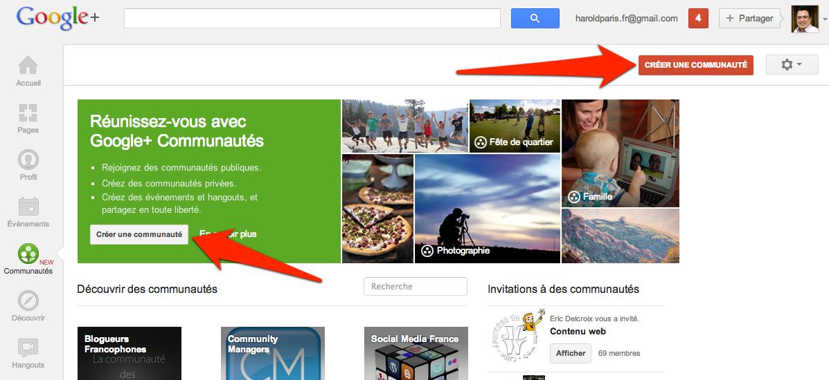 Comment créer une communauté Google+