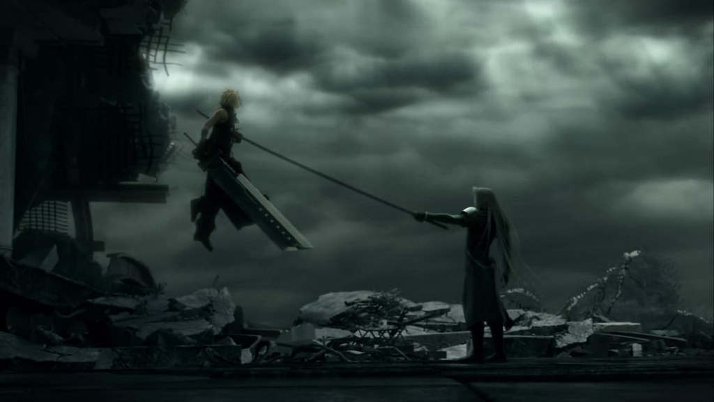 Final Fantasy Sephiroth Vs Cloud With Images Final Fantasy Vii