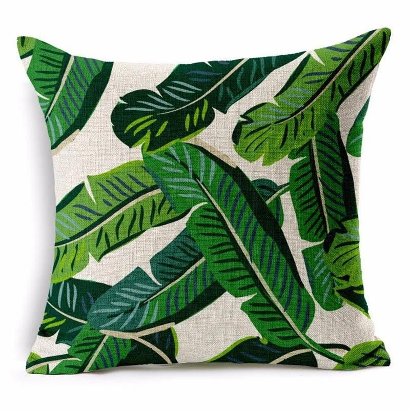 Miraculous Tropical Palm Leaf Throw Pillow Cover Products Throw Ocoug Best Dining Table And Chair Ideas Images Ocougorg