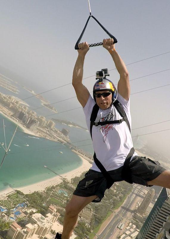 Base Jumping From The World S Highest Zipline Ziplining Base Jumping Dubai