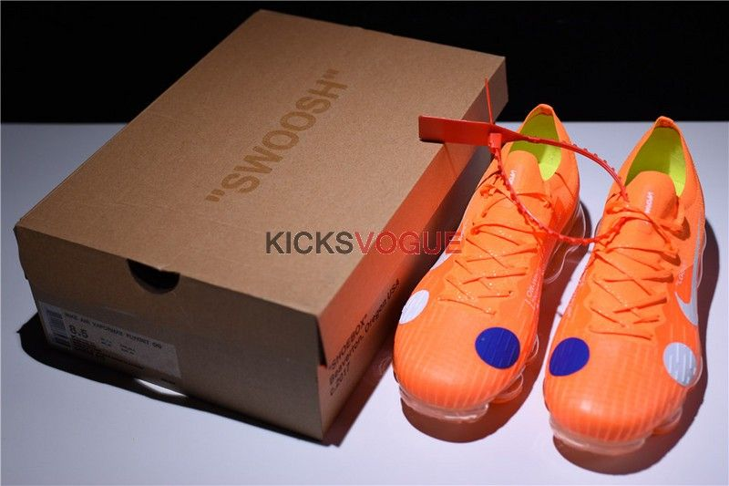 f9e04241dec Virgil Abloh Custom OFF-WHITE x Nike Mercurial VaporMax Hybrid Orange