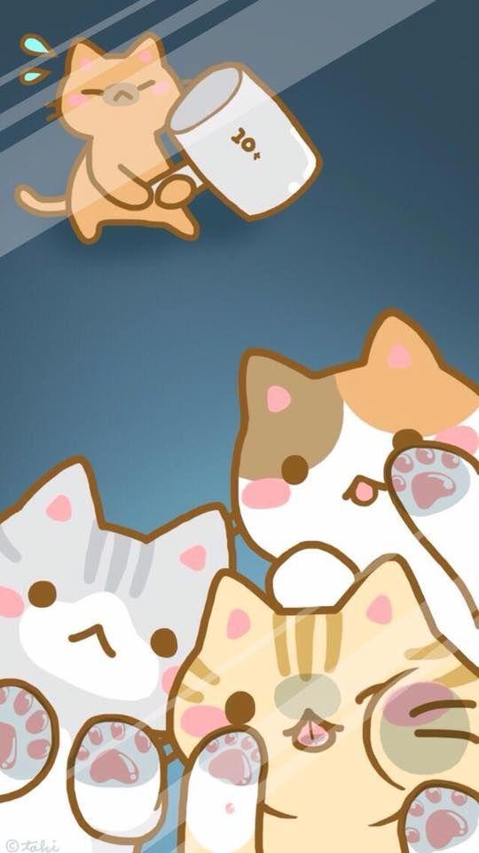 Epingle Par Sama Nyan Sur Asia Chat Kawaii Petit Chat Trop Mignon Dessin Chat