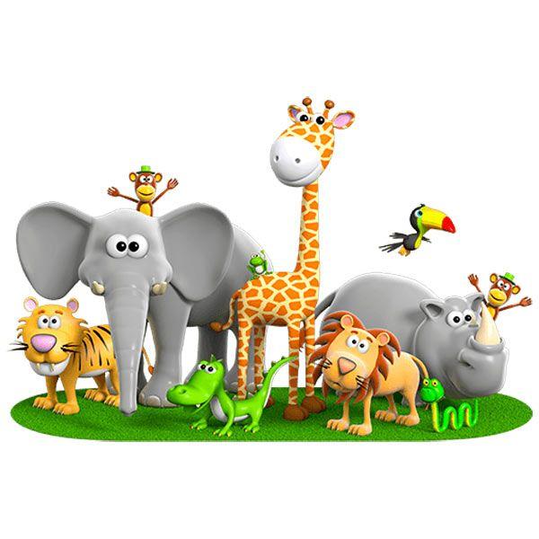 Vinilos infantiles animales de la jungla bebes nursery for Vinilos infantiles animales