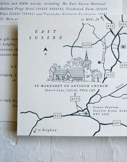 44+ Ideas for wedding invitations letterpress maps