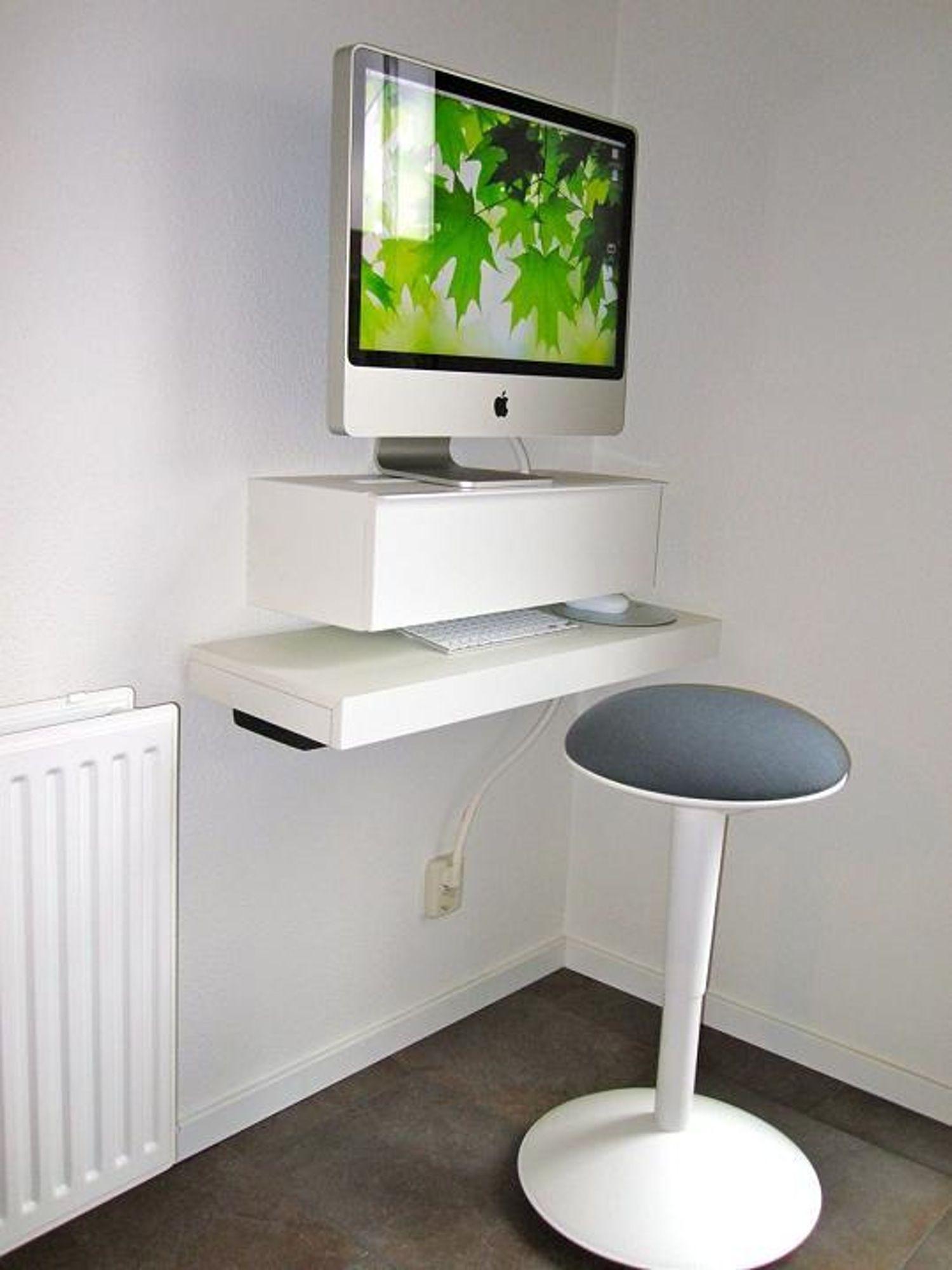 Uberlegen Create A Small Floating IMac Workspace With Ikea Shelves