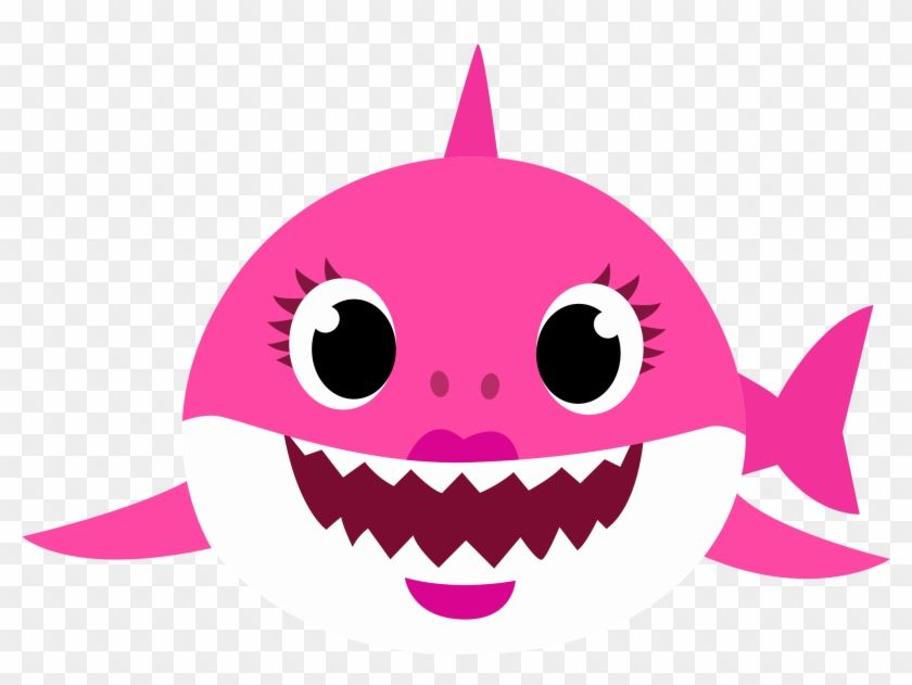 Find Hd Mommy Shark Png Baby Shark Rosa Png Transparent Png To Search And Download More Shark Themed Party Shark Theme Birthday Shark Themed Birthday Party