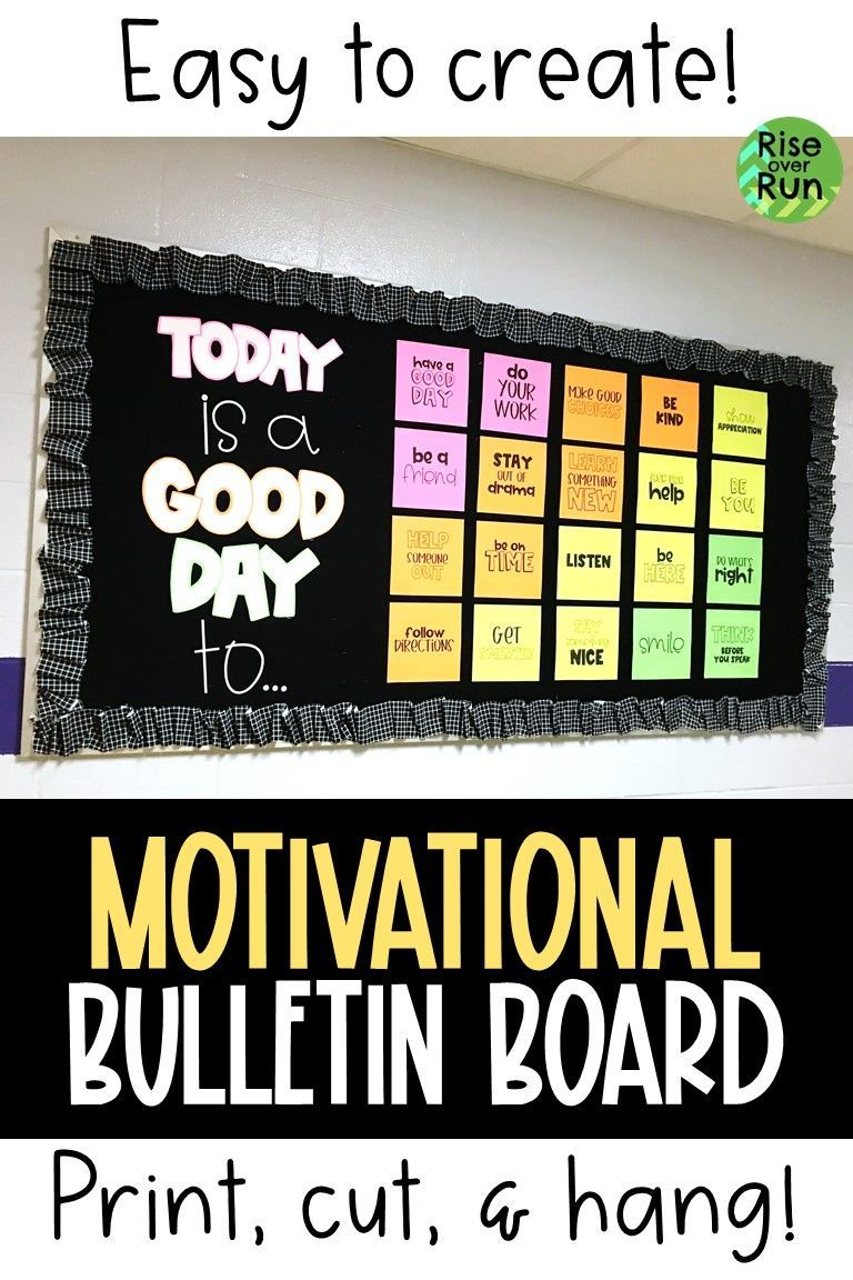 Bulletin Board Kit Today is a Good Day Motivational