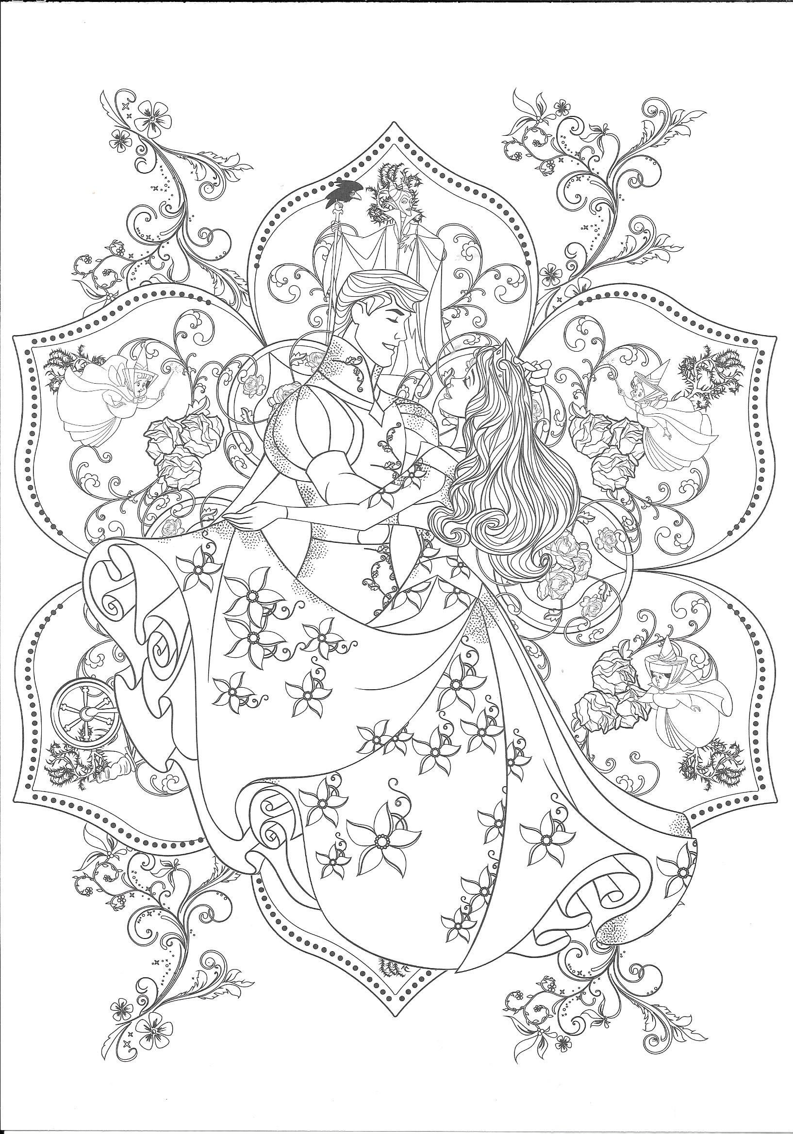 Coloring Disney Coloring Pages Printables Disney Coloring Pages Sleeping Beauty Coloring Pages