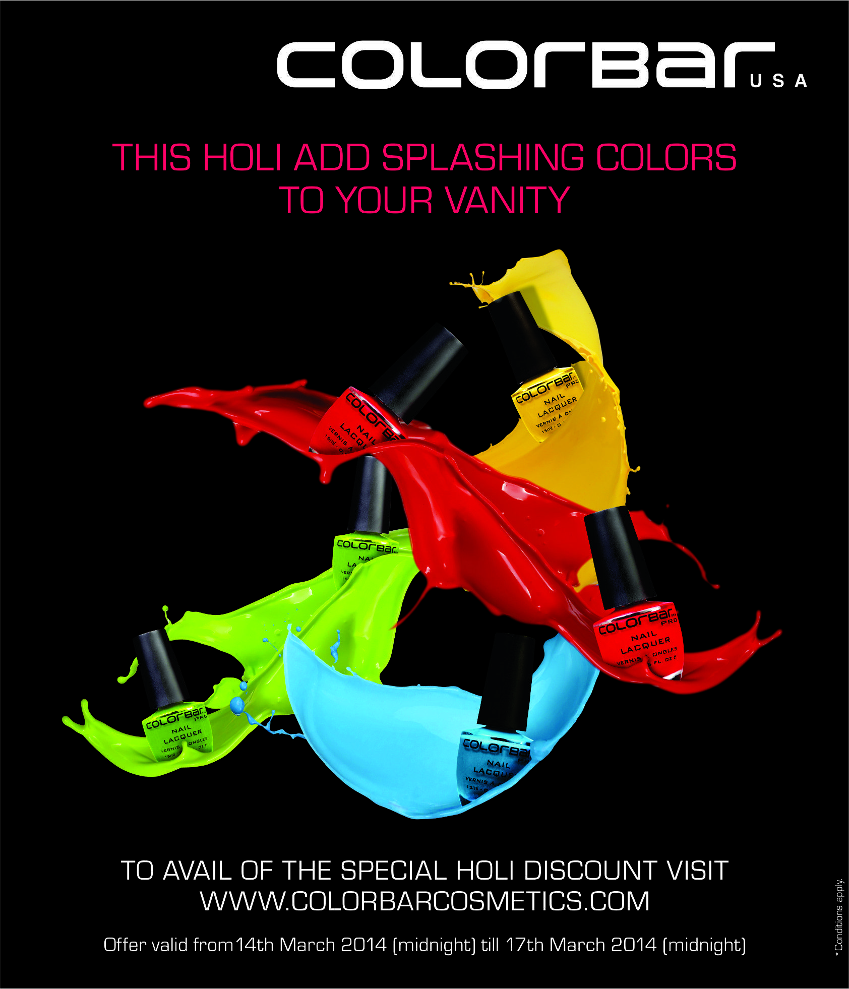 Vibrance, Style, Splash of Colors from ColorBar Cosmetics