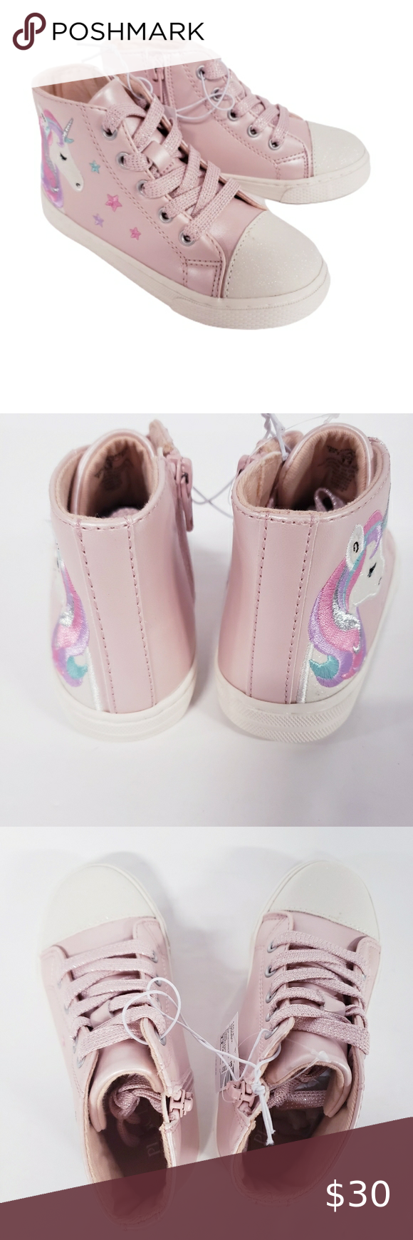 CHILDRENS PLACE Pink Unicorn High Top Sneakers NWT CHILDRENS PLACE  Size 11 (Tod…
