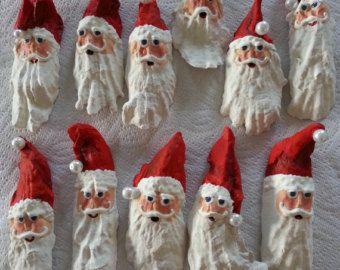Santa clause oyster shell christmas tree ornament diy for Christmas tree ornaments made from seashells