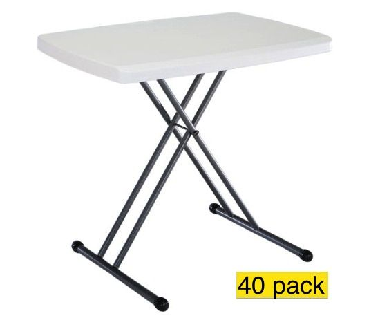 40 Lifetime Personal Folding Tables 8241 White Adjustable 30 In Top Folding Table Lifetime Tables Table