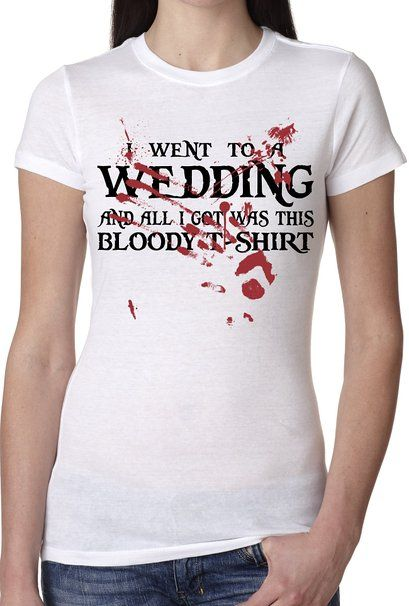 Buy Womens Red Wedding T Shirt Funny TV Show Shirt For Women in ...
