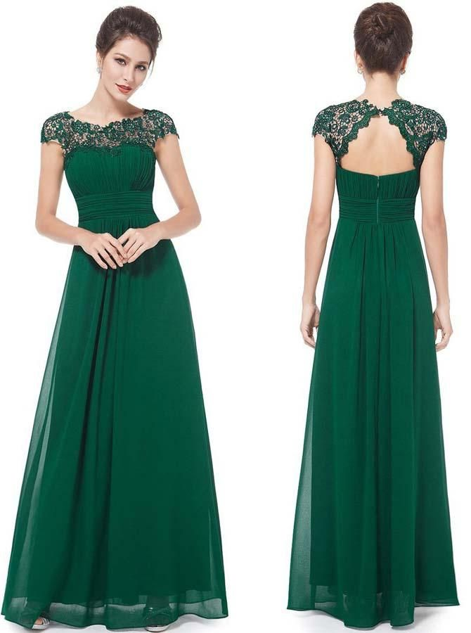 This chiffon bridesmaid dress features lace bodice with cutout back and  flowing full length chiffon skirt.This bridesmaid dress is also available  for junior ... 9c215a4a86837
