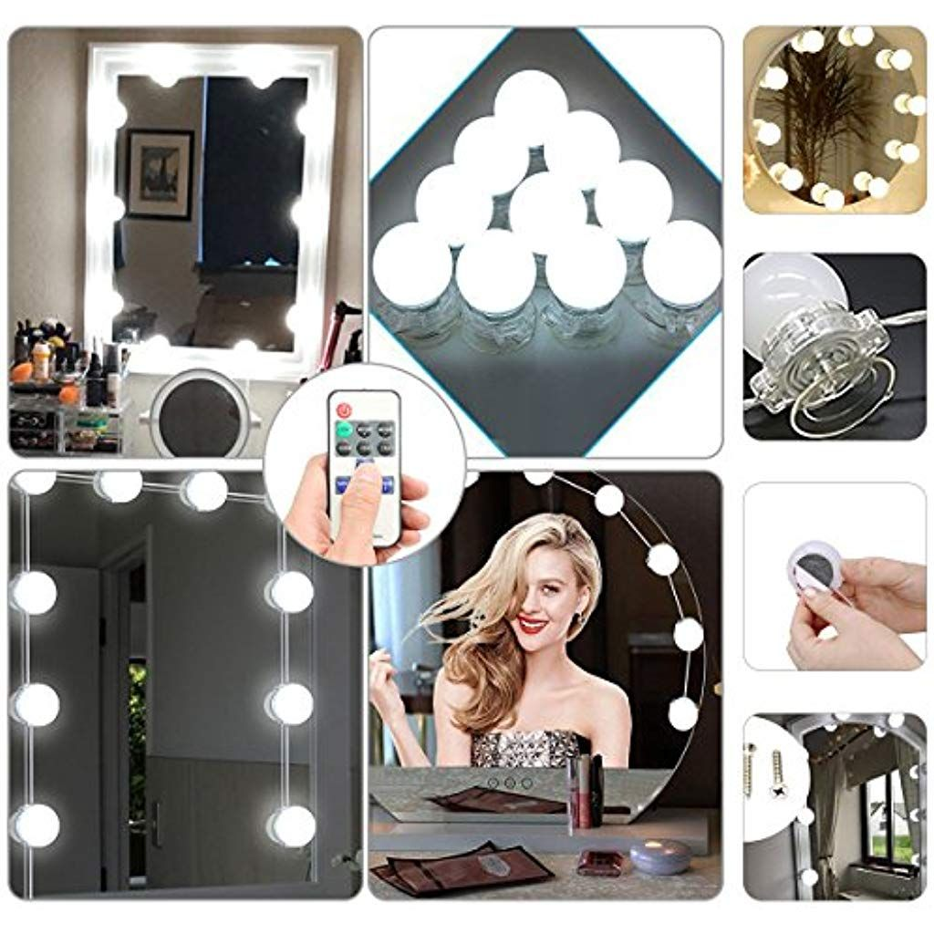 Schminktisch Beleuchtung Pdr 10 Stuck Led Hollywood Spiegel Leuchten Kosmetikspiegel Lichter Kit Mit 3 Lic Mirror With Led Lights Mirror With Lights Led Mirror