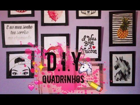 4b9dbf858 DIY  COMO FAZER MOLDURA DE QUADRO com Papel Cartão para Decorar Quarto  Estilo Tumblr  diyhome - YouTube
