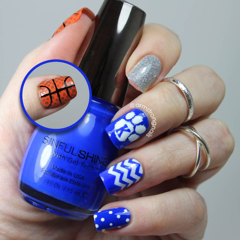 Kentucky Wildcat nail art -- by Instagram@armstrongnails   Nails ...