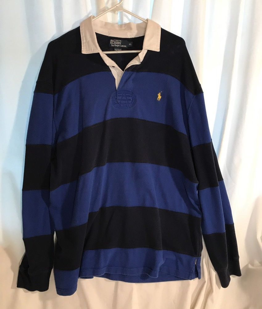 3d37b507 Polo Ralph Lauren Rugby Long Sleeve Sweatshirt Striped XL #fashion  #clothing #shoes #accessories #mensclothing #shirts (ebay link)