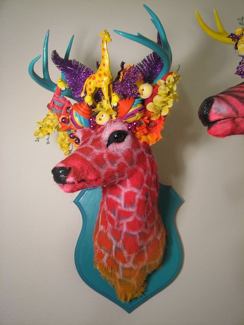 HowToConsign.com suggests: Turn a mounted deer head into a fantasy being