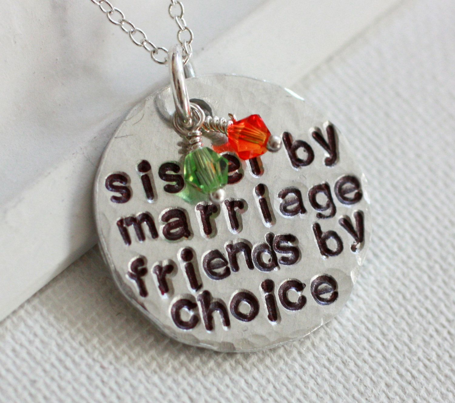 Wedding Gift Ideas For Sister In Law: Sister In Law Necklace Step Sister Necklace Sister By