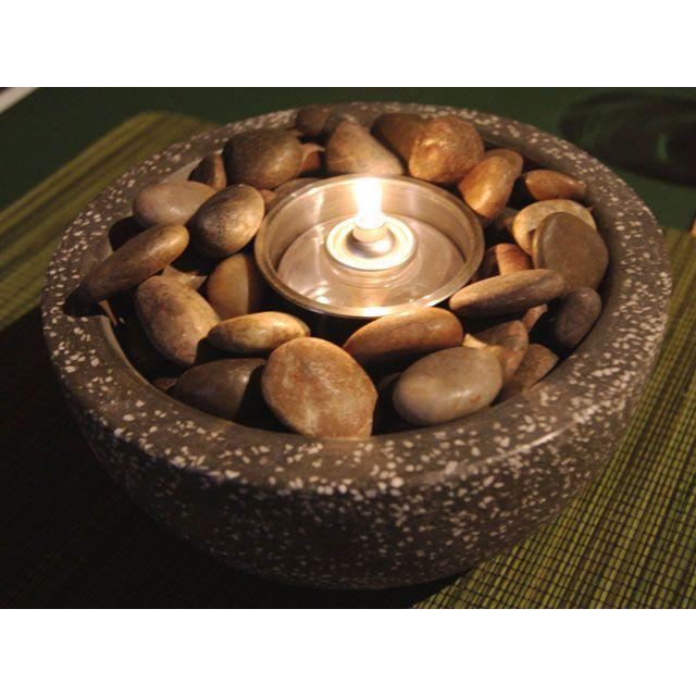 Deeco Rock Stone Tabletop Gel Fire Bowl   DM 008 FB