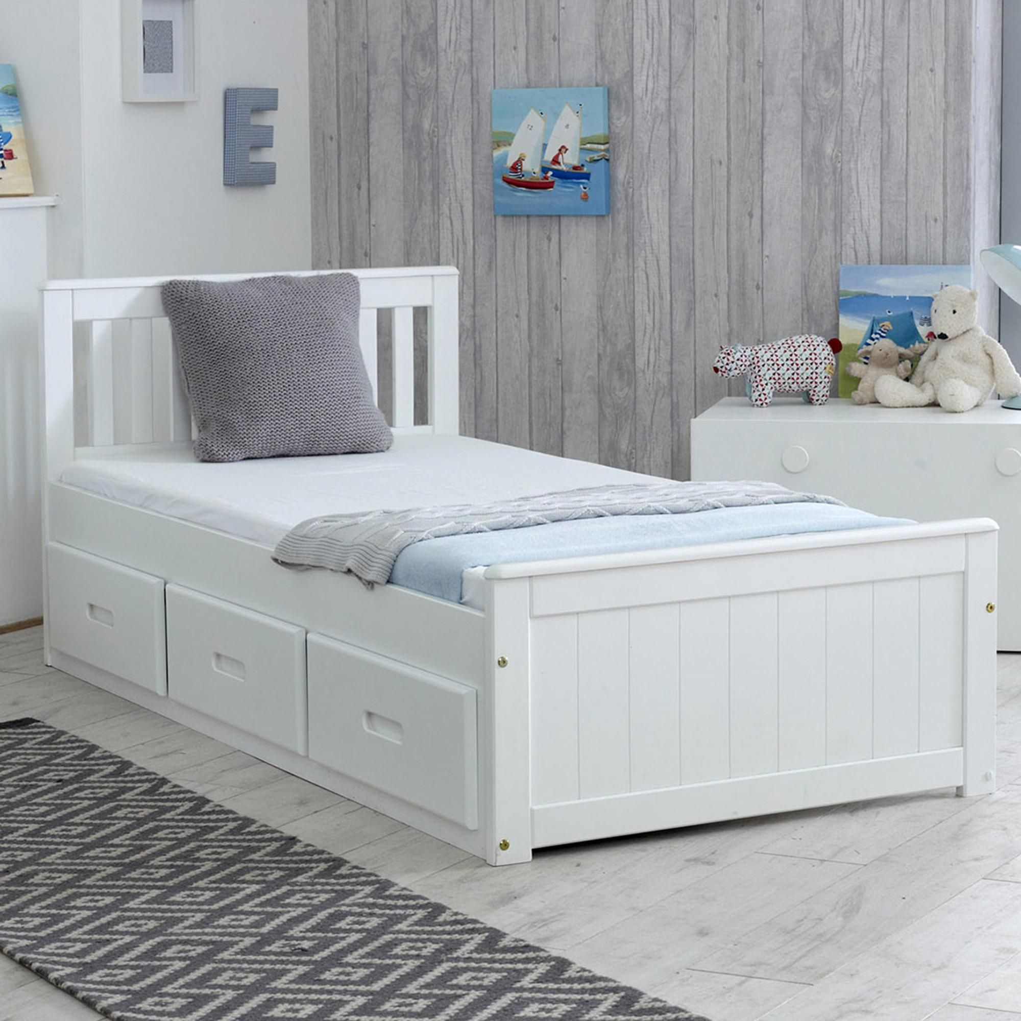 Mission White Storage Bed In 2020 Single Beds With Storage Bed Frame With Storage Bed Storage