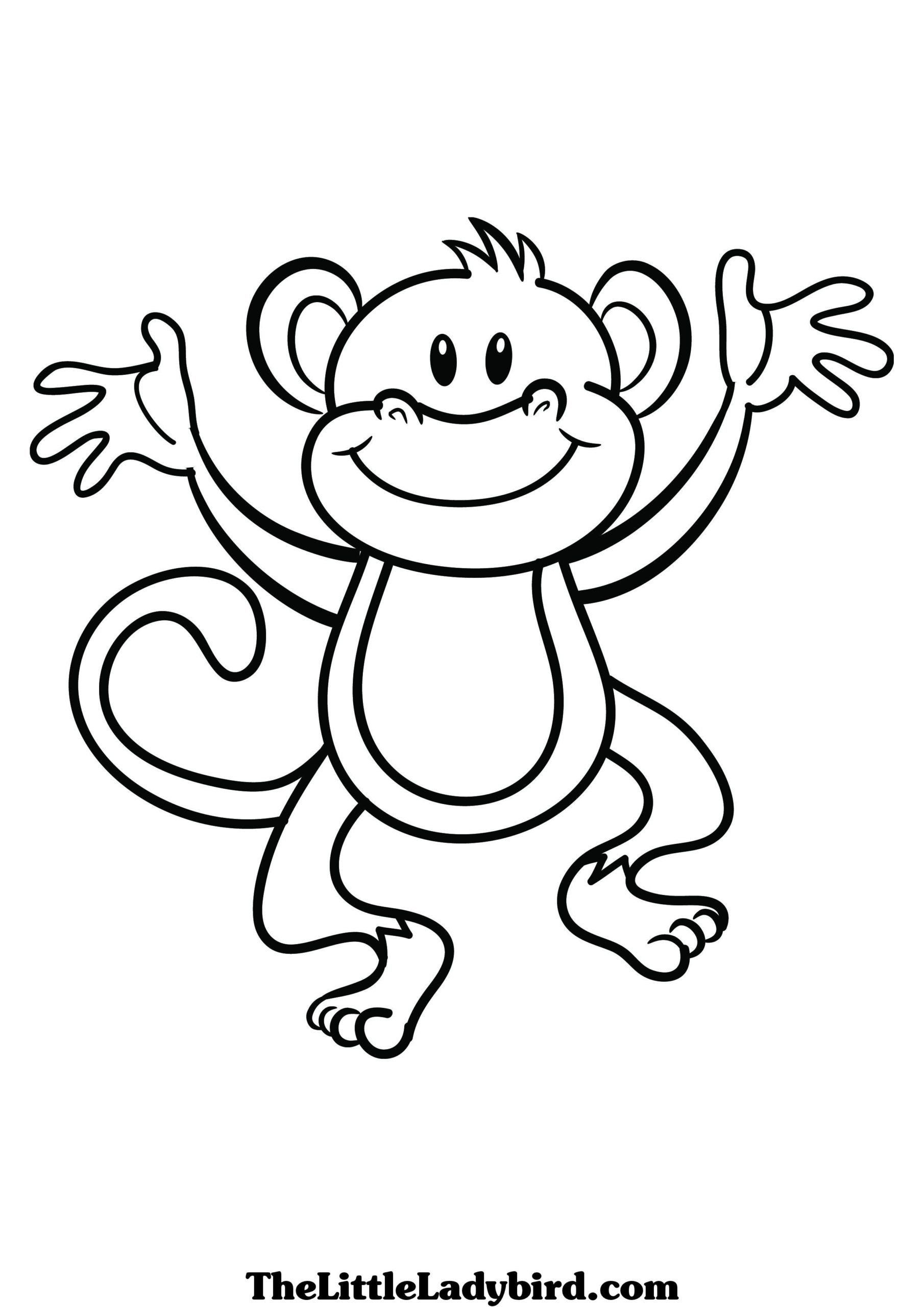 Large Coloring Books For Toddlers Coloring Pages Monkey Coloring Free Books For Monkey Coloring Pages Animal Coloring Pages Toddler Coloring Book