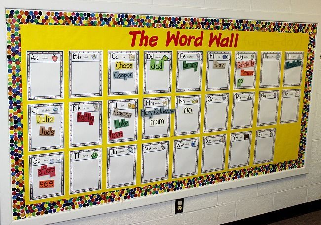 Word Walls in Preschool and Kindergarten | Early childhood, Bulletin ...