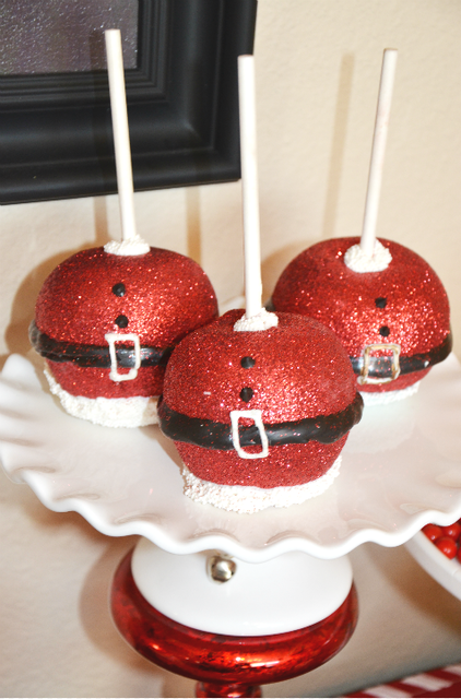 sparkly caramel apples at a christmas party see more party ideas at catchmypartycom partyideas christmas - Christmas Candy Apples